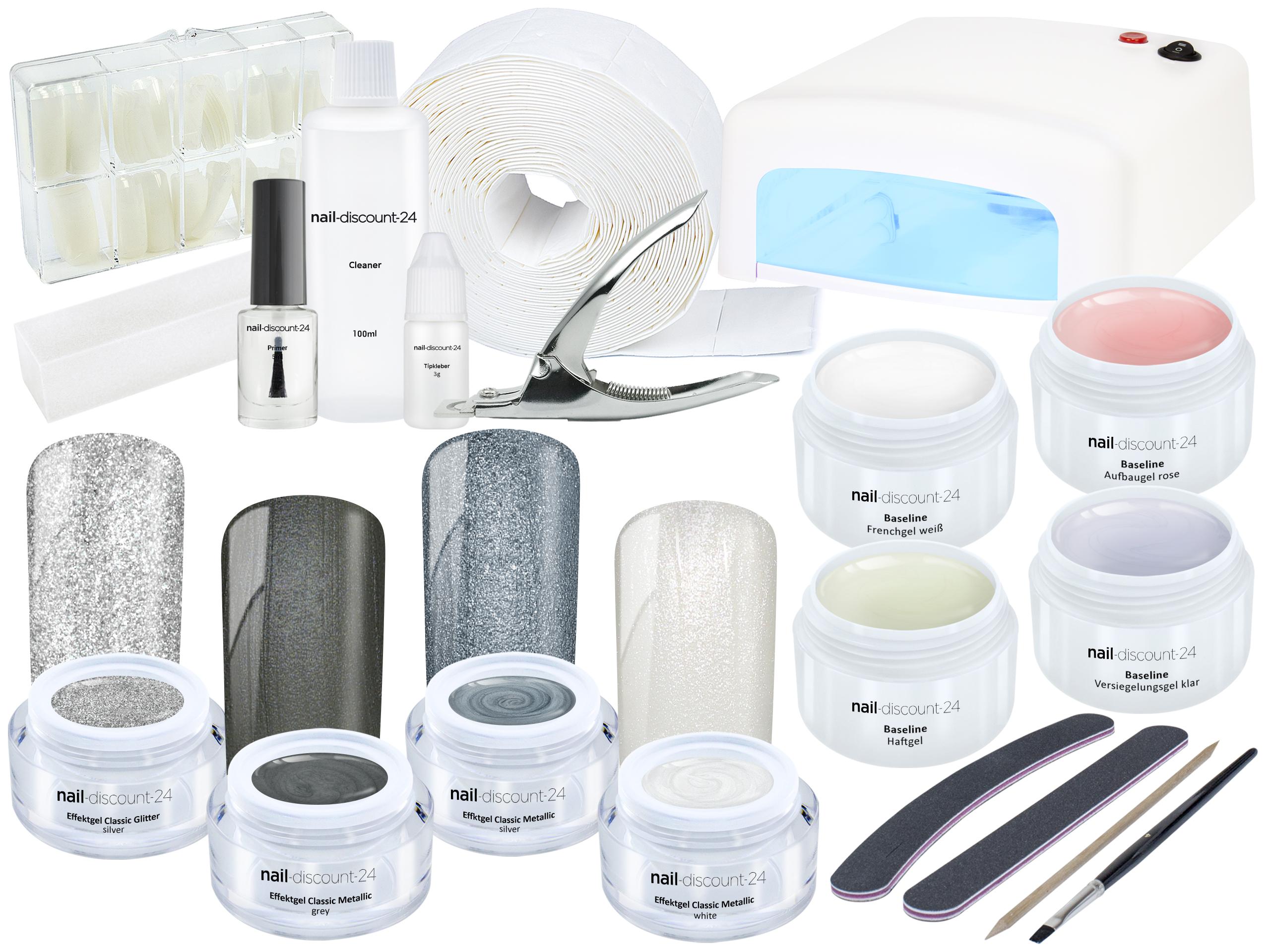 xxl nagelstudio farb uv gel starter set pearl shine nail. Black Bedroom Furniture Sets. Home Design Ideas